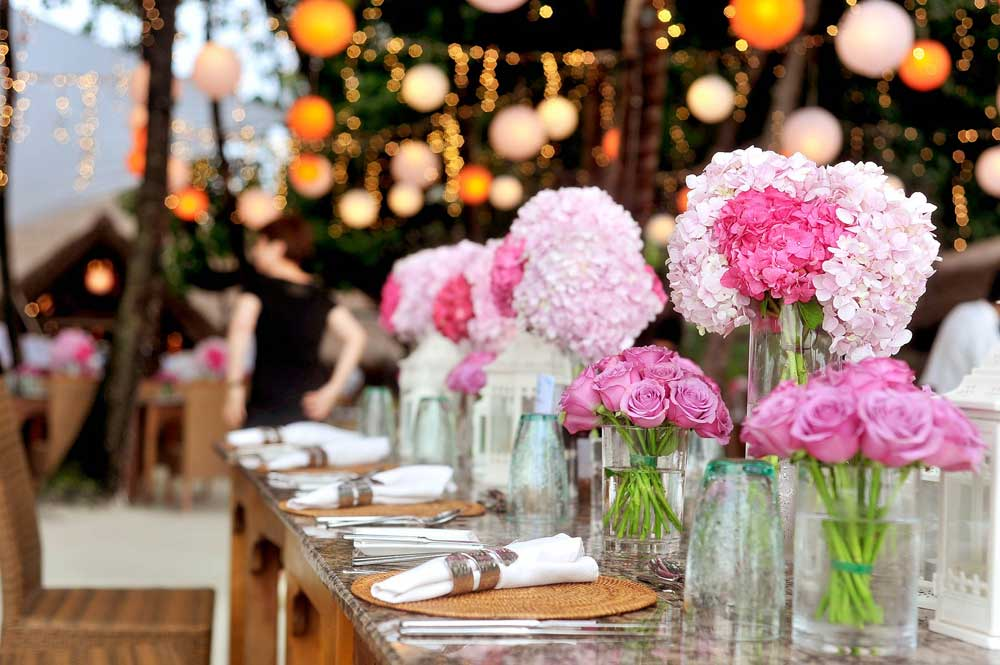 Wedding Bouquet and Table Decorations