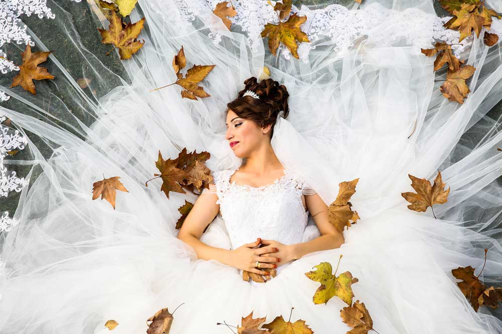 Bride with Leaves
