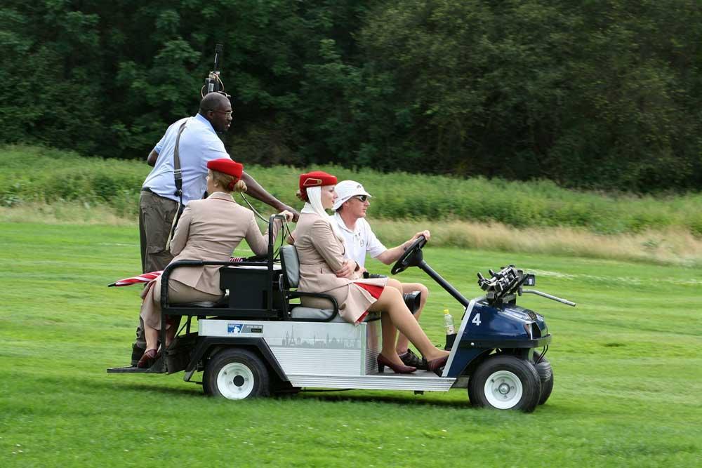 Driving a Golf Cart
