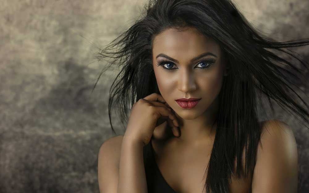 Beautiful Woman Glamour Shot in Salt Lake City
